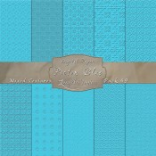 Adorable Mix of Textures in Picton Blue – Digital Paper Pack 49