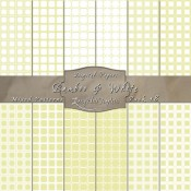 Adorable Mix of Patterns in Bamboo & White – Digital Paper Pack 18