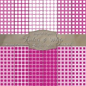 Adorable Mix of Patterns in Fuchsia & White – Digital Paper Pack 18