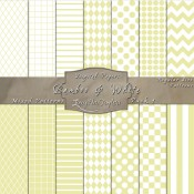 Basic Multi-Pattern Pack in Bamboo & White – Digital Paper Pack 1
