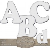 Silver Etched Metal – Curved Digital Alphabet & Numbers