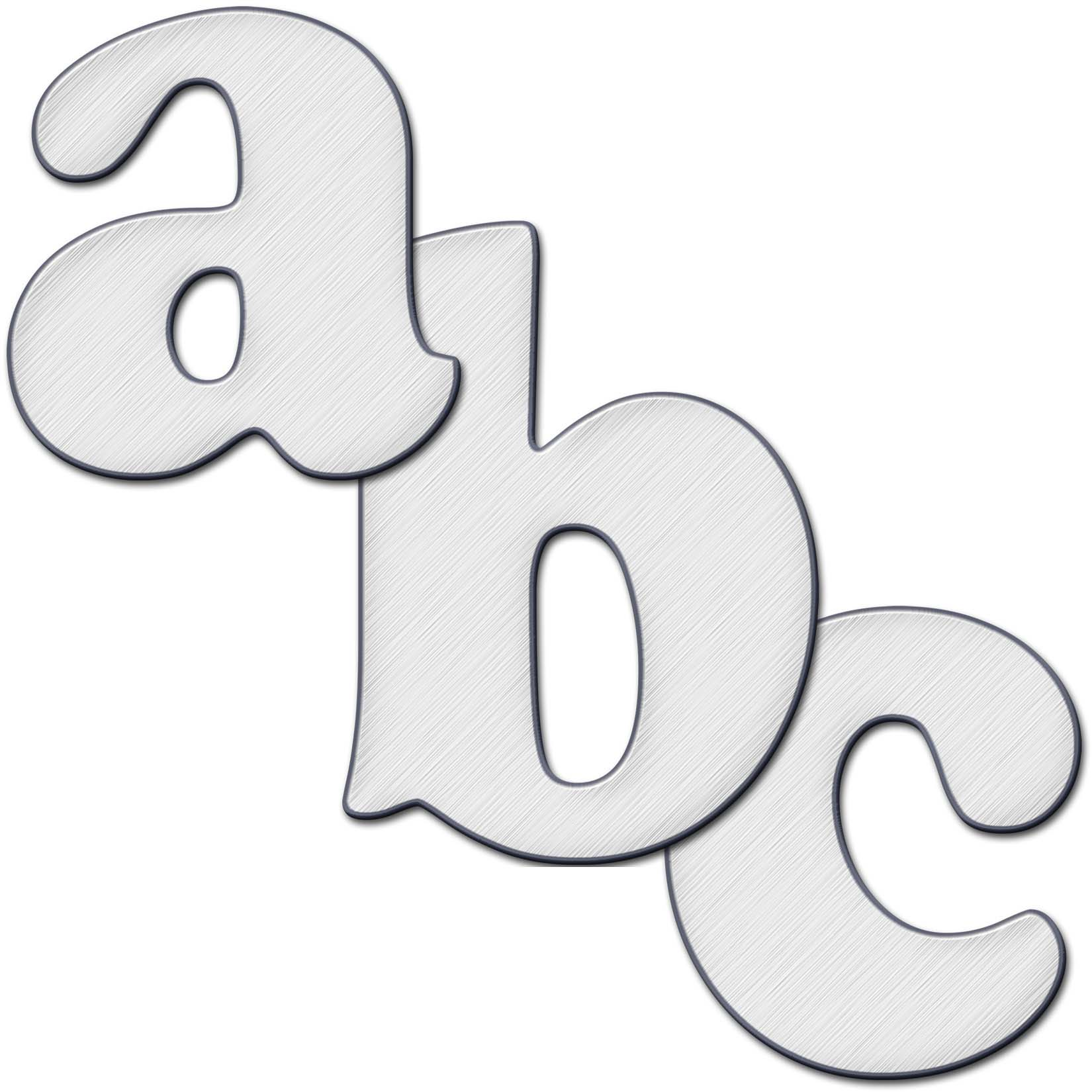 Abc Logo Transparent Silver Etched Metal