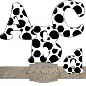 Dalmatian Print – Curved Digital Alphabet & Numbers