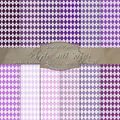 Argyle Pattern in Purples & White – Digital Paper Pack 31