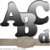 Silver Tracks – Curved Alphabet & Numbers