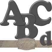 Emperor Gray Curved Digital Alphabet & Numbers