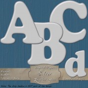 Silver-Gray – Curved Alphabet & Numbers