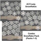 Frosty White Snowflakes – Combo Pack 1-3