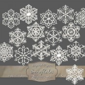 Frosty White Snowflakes – Pack 1