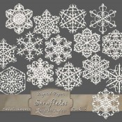 Frosty White Snowflakes – Pack 2