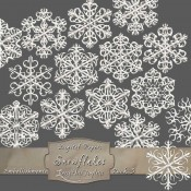 Frosty White Snowflakes – Pack 3