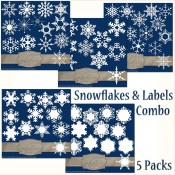 63 Snowflakes (Flakes & Labels) – Multi-Combo Pack