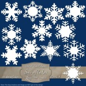 12 Snowflake Labels – Pack 1