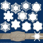 12 Snowflake Labels – Pack 2