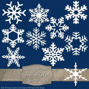 10 White Snowflakes – Pack 4