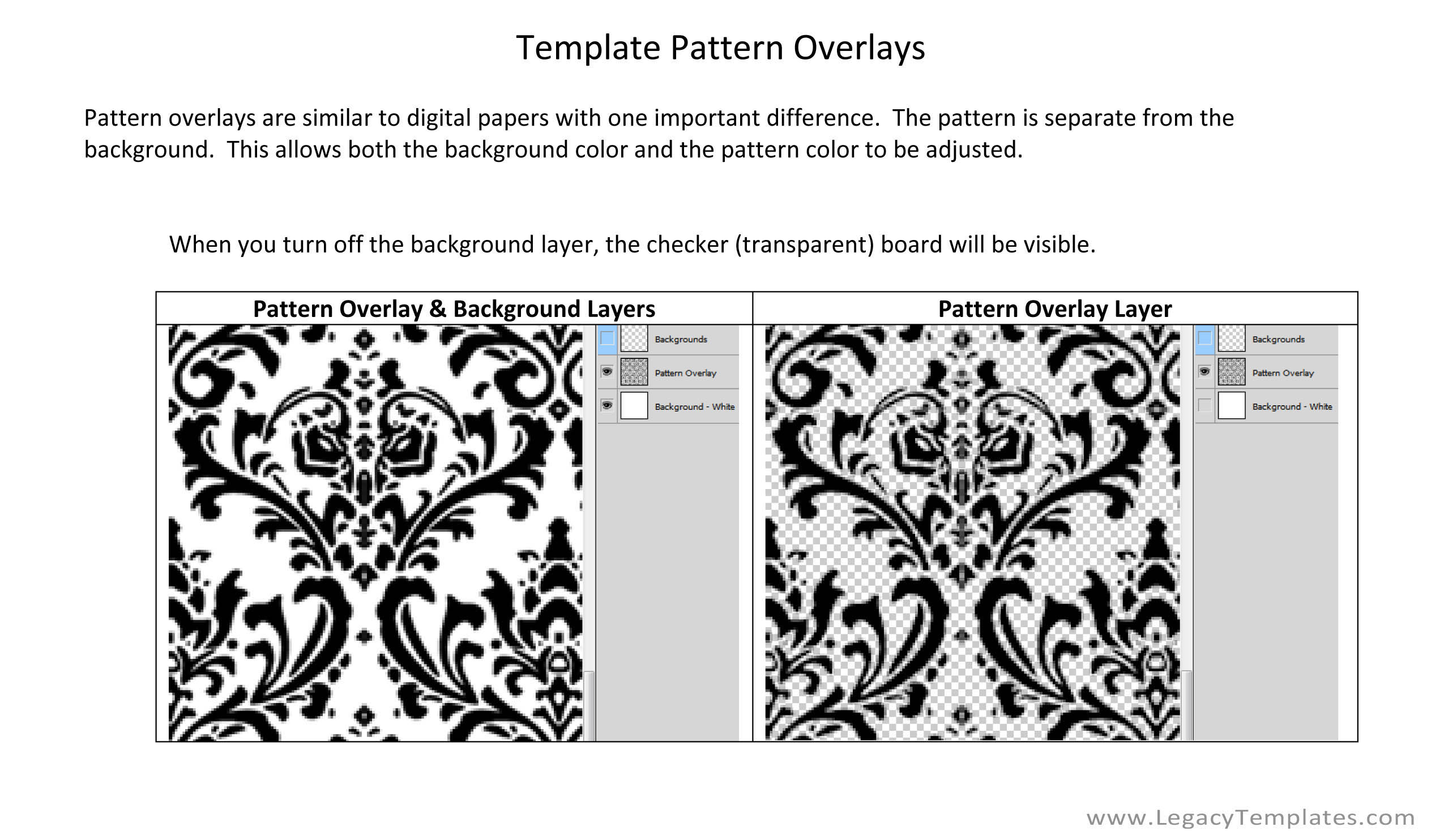 Digital pattern overlay tutorial for digital papers for Pattern overlay