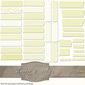 Bamboo & White Patterned Digital Tape – Pack 1