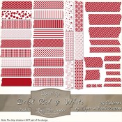 Brick Red & White Patterned Digital Tape – Pack 1