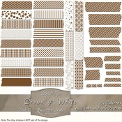 Brown & White Patterned Digital Tape – Pack 1