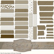 Cocoa Brown & White Patterned Digital Tape – Pack 1
