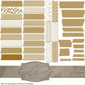 Copper & White Patterned Digital Tape – Pack 1