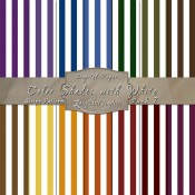Bold Stripe Pattern in Color Shades & White – Digital Paper Pack 7