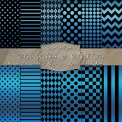 Basic Multi-Pattern Pack in Blue Ribbon & Black Tie Color & Black – Digital Paper Pack 1B