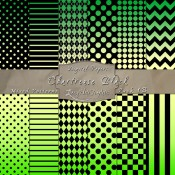 Basic Multi-Pattern Pack in Chartreuse Black Color & Black – Digital Paper Pack 1B