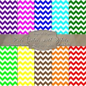 Bold Chevron Pattern in Pure Colors & White – Digital Paper Pack 13
