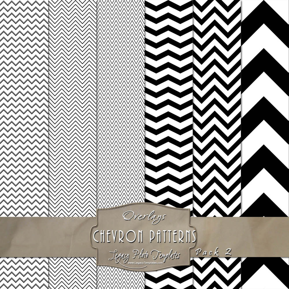 chevron pattern overlays for digital papers