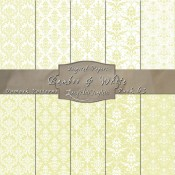 Damask Designs in Bamboo & White – Digital Paper Pack 63