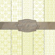 Damask Designs in Bamboo & White – Digital Paper Pack 64