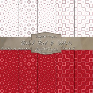 12x12 Patterns Brick Red&White - DP007 Display