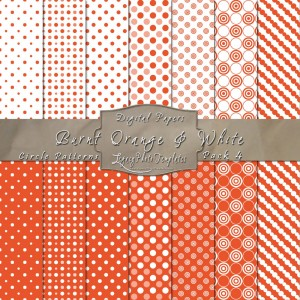 12x12 Patterns Burnt Orange&White - DP004 Display
