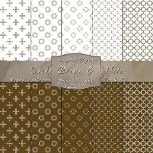 12x12 Patterns Cocoa Brown&White - DP023 Display