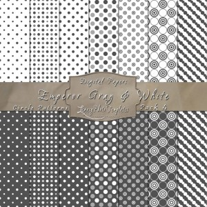 12x12 Patterns Emperor Gray&White - DP004 Display