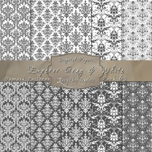 12x12 Patterns Emperor Gray&White - DP063 Display