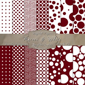 12x12 Patterns Maroon&White - DP013 Display