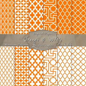 12x12 Patterns Orange & White - DP066 Display