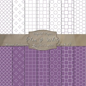 12x12 Patterns Plum&White - DP017 Display