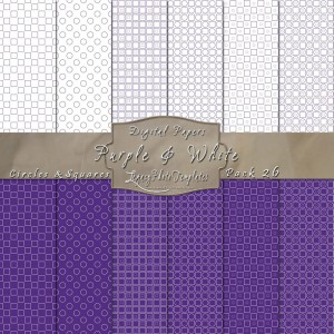 12x12 Patterns Purple&White - DP026 Display