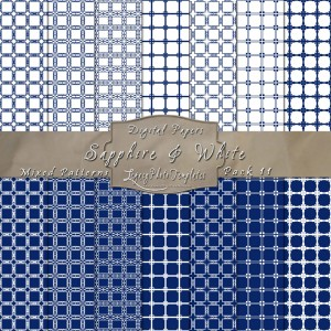 12x12 Patterns Sapphire&White - DP011 Display