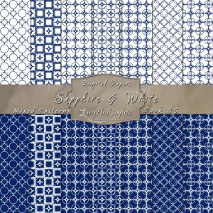 12x12 Patterns Sapphire&White - DP043 Display