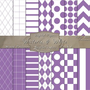 12x12 Patterns Wisteria&White - DP001 Display-LG