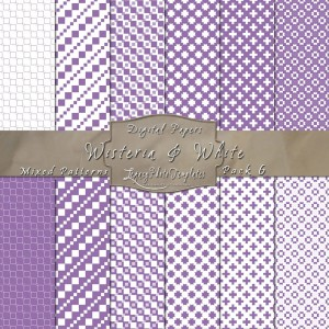 12x12 Patterns Wisteria&White - DP006 Display