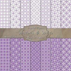 12x12 Patterns Wisteria&White - DP040 Display
