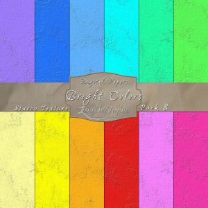 12x12 Texture Bright Colors - Pack008 Display