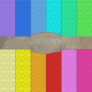 12x12 Texture Bright Colors - Pack040 Display