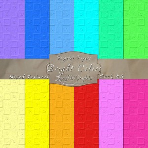 12x12 Texture Bright Colors - Pack044 Display