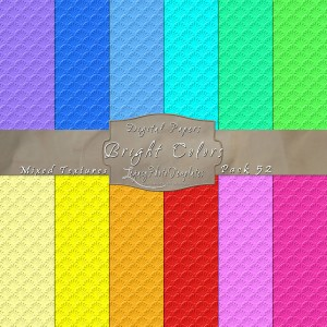 12x12 Texture Bright Colors - Pack052 Display
